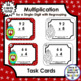 Task Cards • Multiplication BUNDLE with Regrouping • Christmas