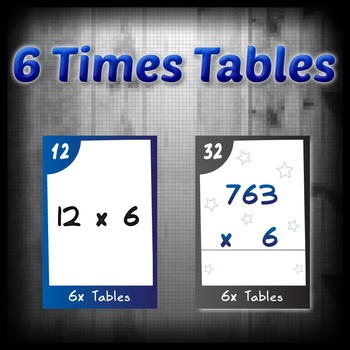 Task Cards - 6 Times Tables (with challenges)