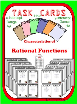Task Cards 80- Characteristics of Rational Functions (optional QR)