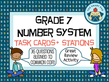 7th Grade Number System Common Core Task Cards