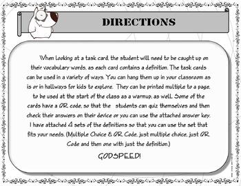 Task Cards - 8th Grade Chemistry Vocabulary - Free