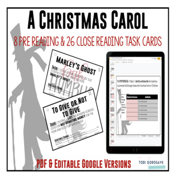 "Task Cards - ""A Christmas Carol"""