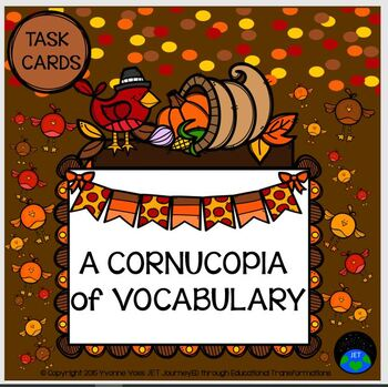 Task Cards A Cornucopia Vocabulary