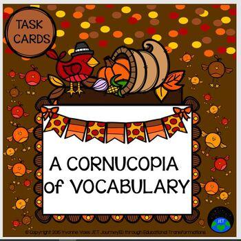 Task Cards A Cornucopia Vocabulary