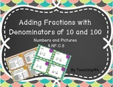 Task Cards Adding Fractions- Tenths and Hundredths- Scoot or Centers