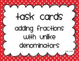 Task Cards-Adding Improper Fractions with Unlike Denominators