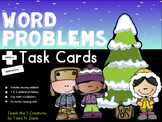 Addition and Subtraction Word Problem Task Cards|Winter-Themed