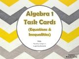 Task Cards - Algebra 1 Equations & Inequalities (RC 3 TEKS)
