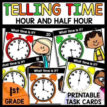 Task Cards (Analog clock hour and half hour)