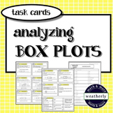 BOX PLOTS - Analyzing BOX PLOTS Task Cards