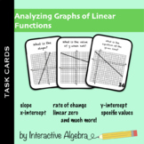 Task Cards: Analyzing Graphs of Linear Functions