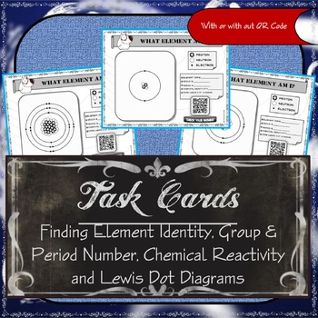 Task Cards (Atom Identity, Group & Period #, Reactivity and Lewis Dot Diagrams