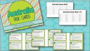 Task Cards -- Australia