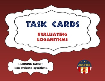 Task Cards BASIC - Evaluating Logarithms