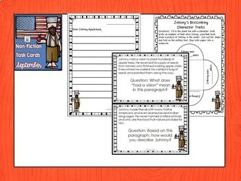 Task Cards Non-Fiction Text Literacy Centers