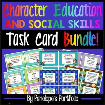 Task Cards BUNDLE - Social Skills & Character Education