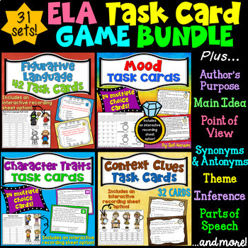 ELA Task Cards BUNDLE