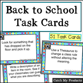 Task Cards : Back to School Edition