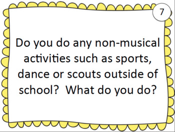 Task Cards: Back to School - Music Class
