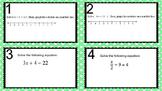 Task Cards - Balancing Equations Review