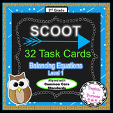 SCOOT 32 Task Cards: Balancing Equations with Addition & Subtraction - Fun Math!