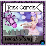 Task Cards Ballet Vocabulary