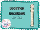 Task Cards: Beginner Recorder