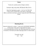Task Cards- Big Book and Poem Station