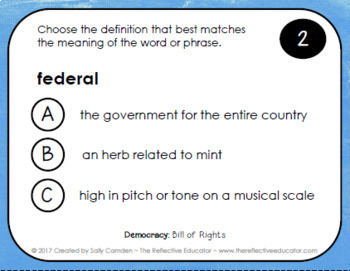 Bill of Rights (All 10 Amendments) ~ Task Cards