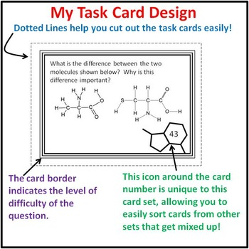 Task Cards: Biochemistry 60 Task Cards - Monomers, Polymers, Macromolecules