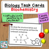 Task Cards: Biochemistry 60 Task Cards - Monomers, Polymer