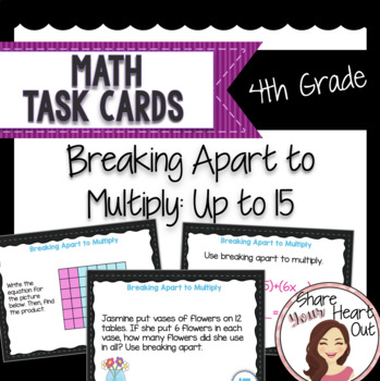 Math Task Cards-Breaking Apart to Multiply (Distributive P
