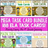 {Reading} ELA Task Cards Bundle {188 Cards!}