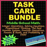 Task Cards Bundle for Middle School Math