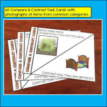 Describing and Compare and Contrast Task Cards Bundle