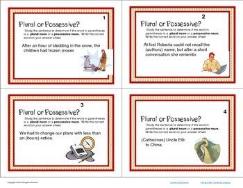 Task Cards Bundle  Parts of Speech Nouns CCSS 6th-8th Grades