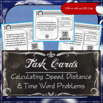 Task Cards - Calculating Speed, Distance & Time (Word Problems)