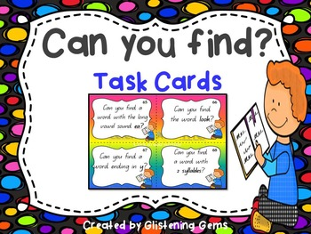 First Grade Word Work Task Cards