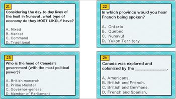 Task Cards -- Canada
