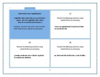 Task Cards - Capitalization