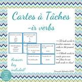 Task Cards - Cartes à Tâches - ir verbs present tense