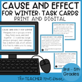 Cause and Effect Winter Task Cards | Cause and Effect