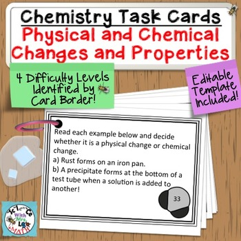 Chemistry Task Cards Introduction to Matter, Properties, and Changes