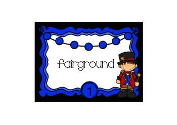 Task Cards Circus Themed Ringmaster Compound Words