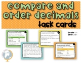 Task Cards Compare and Order Decimal Numbers Problems 5.nbt.1