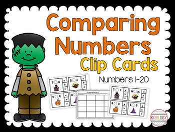 Numbers 1-20 - Comparing Numbers Activities and Centers