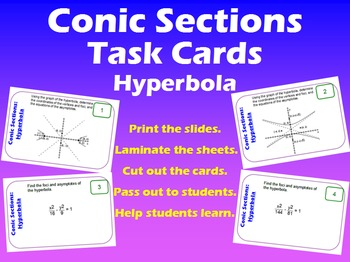Task Cards: Conic Sections - Hyperbola