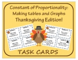 Task Cards: Constant of Proportionality - Thanksgiving Edition!