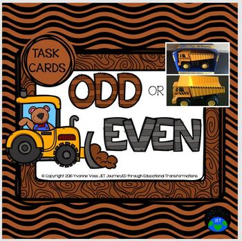 Task Cards Construction Bear Odd or Even