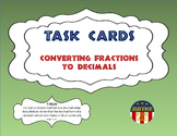 Task Cards BASIC - Converting Fractions to Decimals